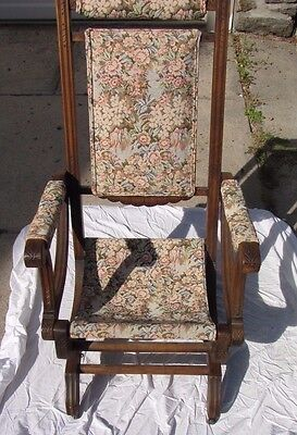 Victorian Platform Rocker Rocking Chair Carved