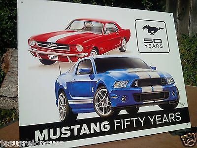 FORD MUSTANG 50 YEARS Rustic Collectible Tin Metal Classic Sign Poster Garage