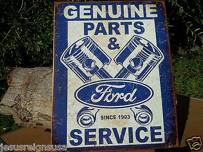 FORD PARTS SERVICE 1903 Rustic Collectible Tin Metal Classic Sign Poster Garage