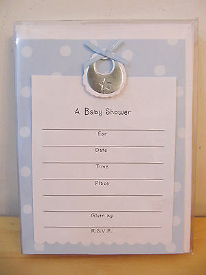 """NEW Hallmark """"A Baby Shower"""" 8 Personalized Cards Envelopes Invitation Kit"""