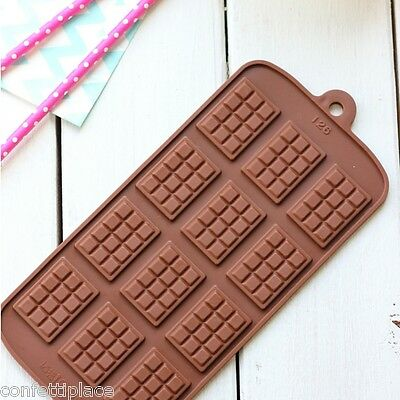 Mini Chocolate Block Silicone Mould ice tray jelly mold fondant soap cake party