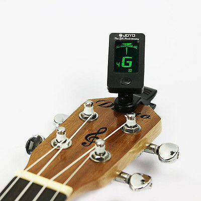 Mini Chromatic Clip-On LCD Digital Tuner For Acoustic Guitar Bass Violin Ukulele