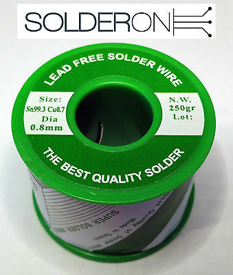 Lead Free Solder 0.8mm 250g Roll Resin Core - AU STOCK