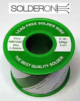 Lead Free Solder 1.0mm 250g Roll Resin Core - AU STOCK