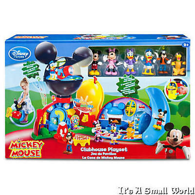 """Disney Store Mickey Mouse Clubhouse Deluxe Playset 15"""" H & 6 Figurines NIB"""