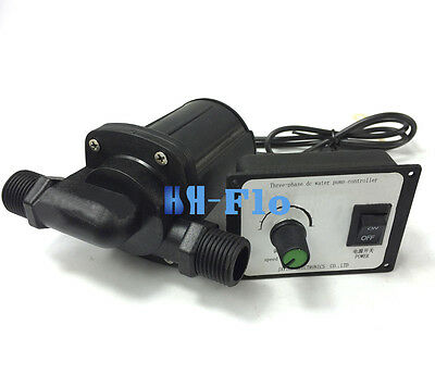 HSH-Flo DC Water Pump 12V 3 Phase Hot Water Booster Pump 2600L/H Amphibious