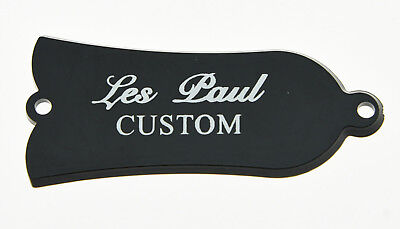 Single Black Guitar CUSTOM Printed Truss Rod Cover Fits Gibson Les Paul LP