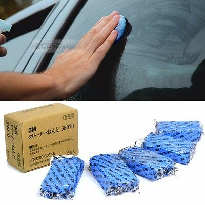3M Car Truck Magic Clean Clay Bar Auto Detailing Miracle Wash Cleaner Blue 5pcs