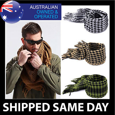 ARMY MILITARY TACTICAL SCARF Shemagh KeffIyeh Mens Womens Survival Airsoft Gear