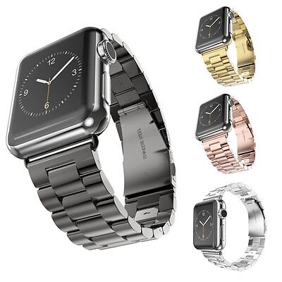 Replacement Stainless Steel Strap Band Clasp for Apple Watch Sport/Edition 38/42