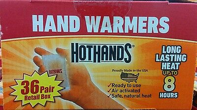 HotHands Heatmax Hand Warmers *36* Pairs, (72 Total Warmers) -New Sealed Box