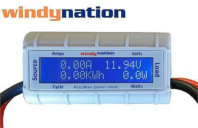 Accumax Watt Volt Ammeter Power Meter Analyzer Wind Solar RC Energy Monitor