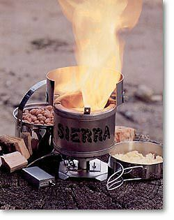 BEST PRICE! -SIERRA ZIP STOVE #111A- Burns sticks and twigs! Free fuel! New !