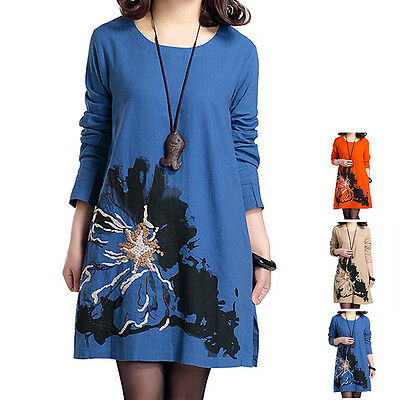 New Maternity Women Loose Dress Autumn Pregnant Embroidered Long Blouse Clothes