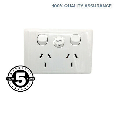 Double Power Point GPO Outlet with WASTE 15 AMP Extra Switch 2000 series