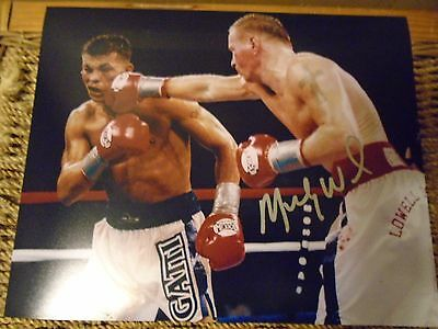 """""""Irish"""" Micky Ward autographed 8x10 Photo #1 The Fighter The Pride of Lowell #1"""