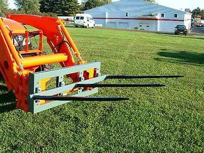 "Skid Steer TRIPLE Bale Spear Attachment 3 x 39"" Prong CAT-M Hay Bale Handler"