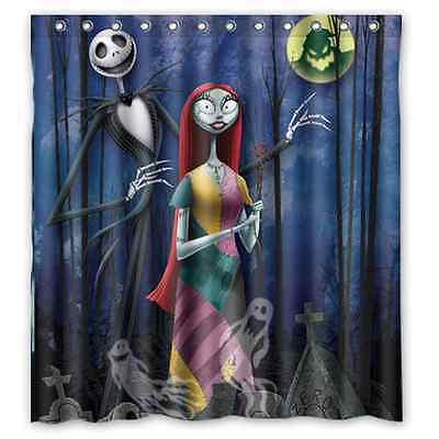 The Nightmare Before Christmas Bathroom Waterproof Shower Curtain 66x72 Inch