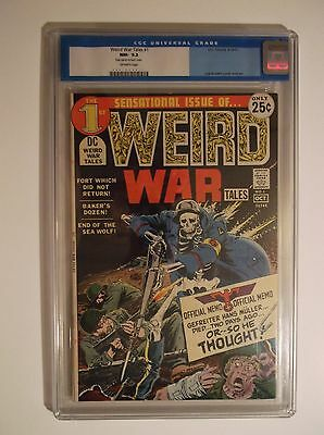 Weird War Tales # 1  Cgc 9.2 Nm-   Old Style Blue Label