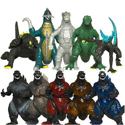 """Lot of 10 Different Versions of Godzilla 3"""" Monsters Kids Toy Figure Figures Set"""