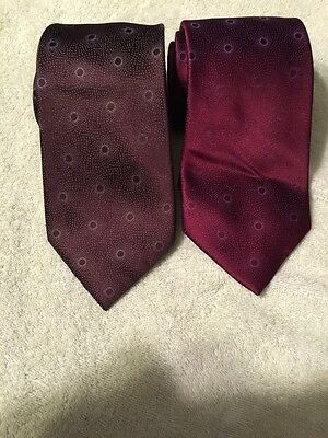 Lot Of 2 IKE BEHAR Nexkties Ties 100% Imported Silk Hand Made Used Just Once