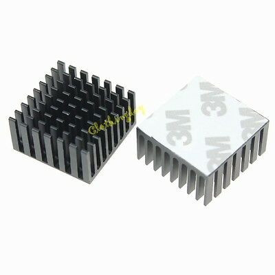 2pcs Lot 28mm x 28mm x 15mm Black Heat Sink Adhesive Tape  For Memory Chipset HQ
