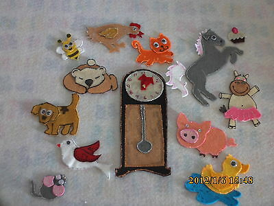 Felt Board Story  Teacher Resource - Hickory Dickory Dock 12 Hours