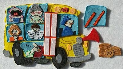 Felt Board Story Rhyme Teacher Resource -  The Wheels On The Bus
