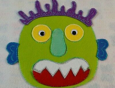 Felt Board/flannel Story Rhyme Teacher Resource - Go Away Big Green Monster