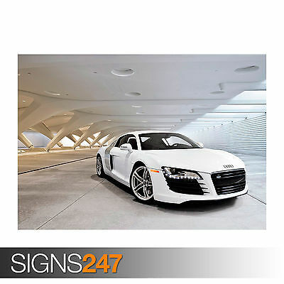 Photo Picture Poster Print Art A0 to A4 AA736 CAR POSTER AUDI R8 SPYDER -