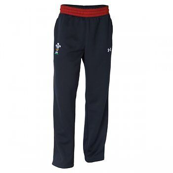 Under Armour Wales Junior Armour Fleece Pant Black and White