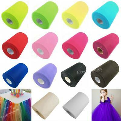 "6"" 100Y Tutu Tulle Roll Spool Gift Bow Fabric Craft Bridal Skirt Wedding Favours"
