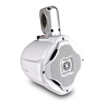 "NEW! Lanzar AQWB65W 500W 6-1/2"" 2-Way Marine Wake Board Tower Speaker"