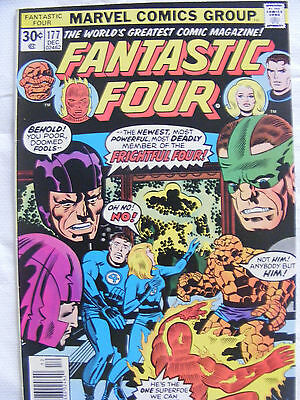 Fantastic Four # 177 Dec 1976 Marvel Comics Bronze Age Cents Frightful Four!