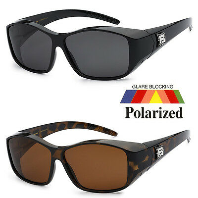 f037d3d7046b 1 Pair POLARIZED cover put over Sunglasses wear Rx glass fit driving SIZE  M-L