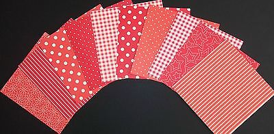 "Shades of RED Scrapbooking Papers **15cm x 15cm** (6"" X 6"")"