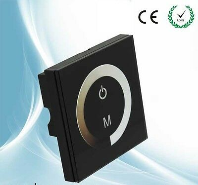 LED Dimmer DC 12V Touch Panel Dimmer Switch For LED Lights with 86 Junction Box
