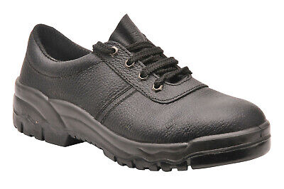 Safety Shoes Work Leather Black Steel Toe Footwear Mens Portwest 5-14, NEW FW14