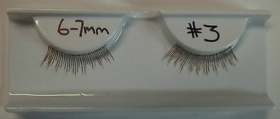 Reborn Doll CLEAR THREAD Eyelashes  6-7mm. Colour: #3  DARK BROWN