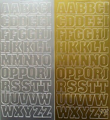 20mm (2cm) Uppercase Alphabet PEEL OFF STICKERS Capital Letters Alphabets