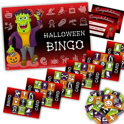 Halloween Party Game-   HALLOWEEN BINGO  - upto 20 players - halloween gift
