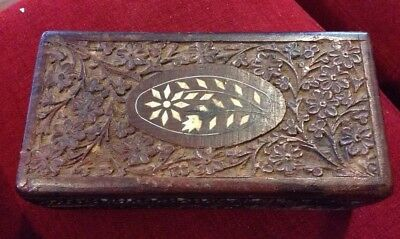 Gorgeous Carved Inlaid Wooden Box