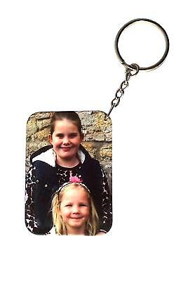 Personalised Keyring Custom Printed both sides any pictures / text plastic fob