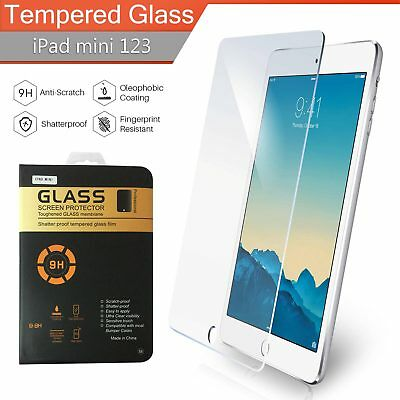 REAL TEMPERED GLASS FILM LCD SCREEN PROTECTOR FOR APPLE IPAD MINI 1/2/3 UK Stock