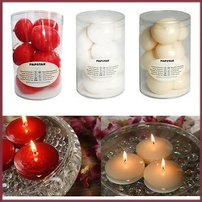 10 Floating Candles 5Hrs Burn Oval Water Home Decoration 45MM Night Party Candle