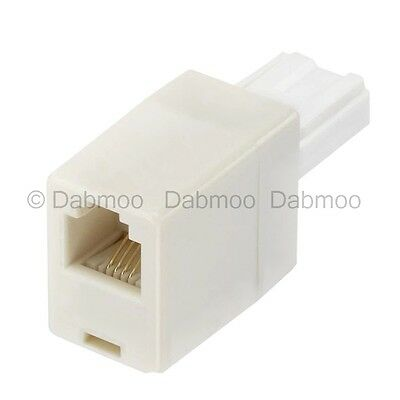 Telephone Line Adapter Connecting ADSL Cable BT Plug RJ11 Socket