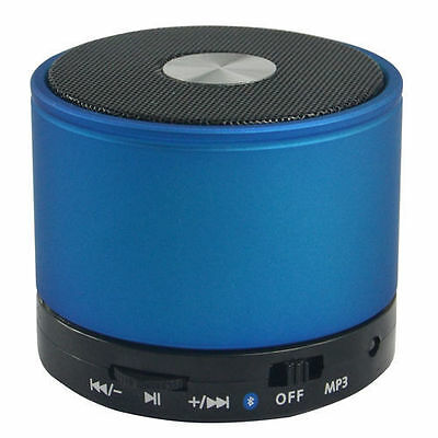 Blue Bluetooth Wireless Mini Portable Speaker For Mp3 Mobile Phone Tablet