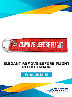 Pilot Elegant Remove Before Flight Red Key Chain