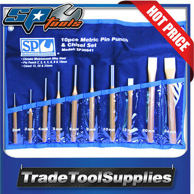 SP Tools 10 Piece Pin Punch and Chisel Set SP30841