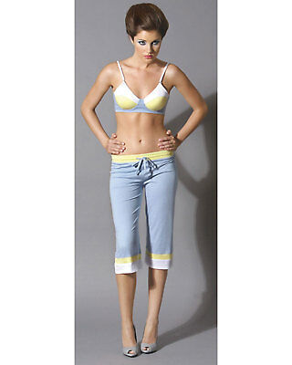 Morris Costumes Cropped Pants Dove Blue Large. SV7188BLG